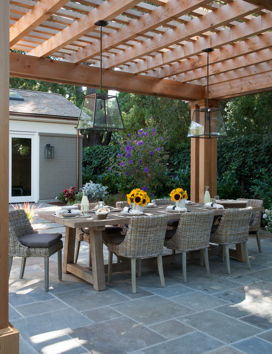 A Look At Some Beautiful Outdoor Dining Rooms Homes Of