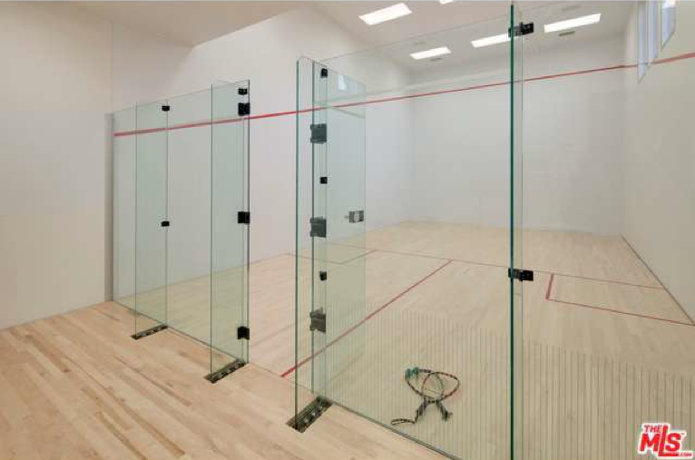 40 000 month rental in beverly hills ca with indoor for Average cost racquetball court