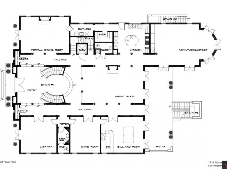 Floor Plans 1st Floor Homes Of The Rich