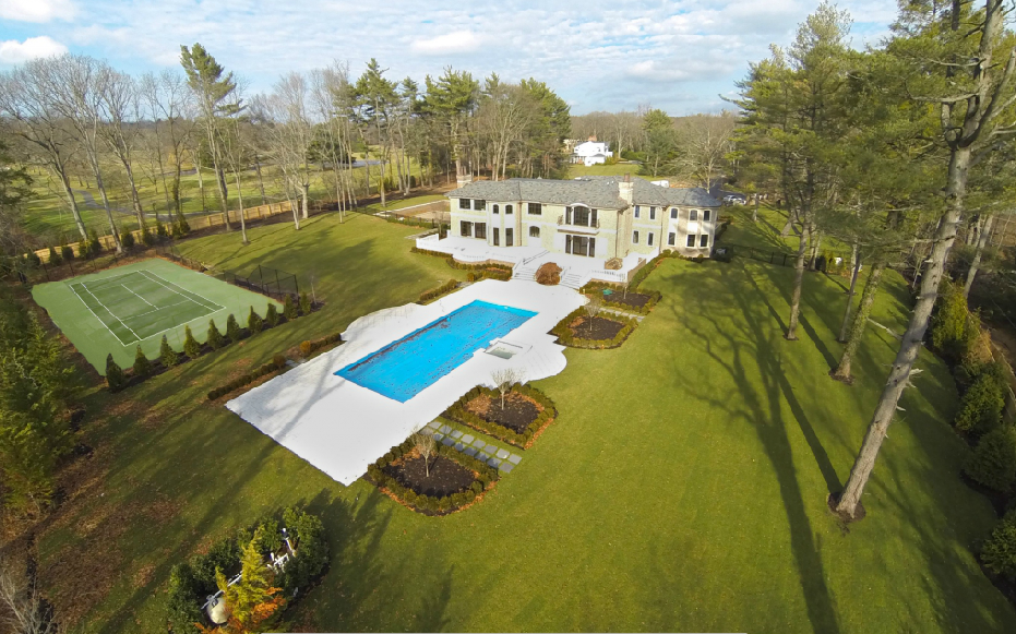 $7.988 Million Newly Built Brick Colonial In Old Westbury, NY