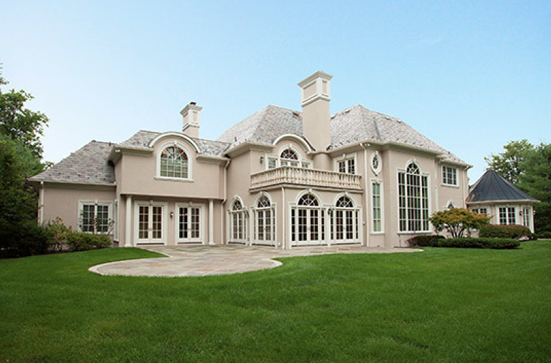 $4.795 Million Newly Listed European Style Stucco Mansion In Saddle River, NJ