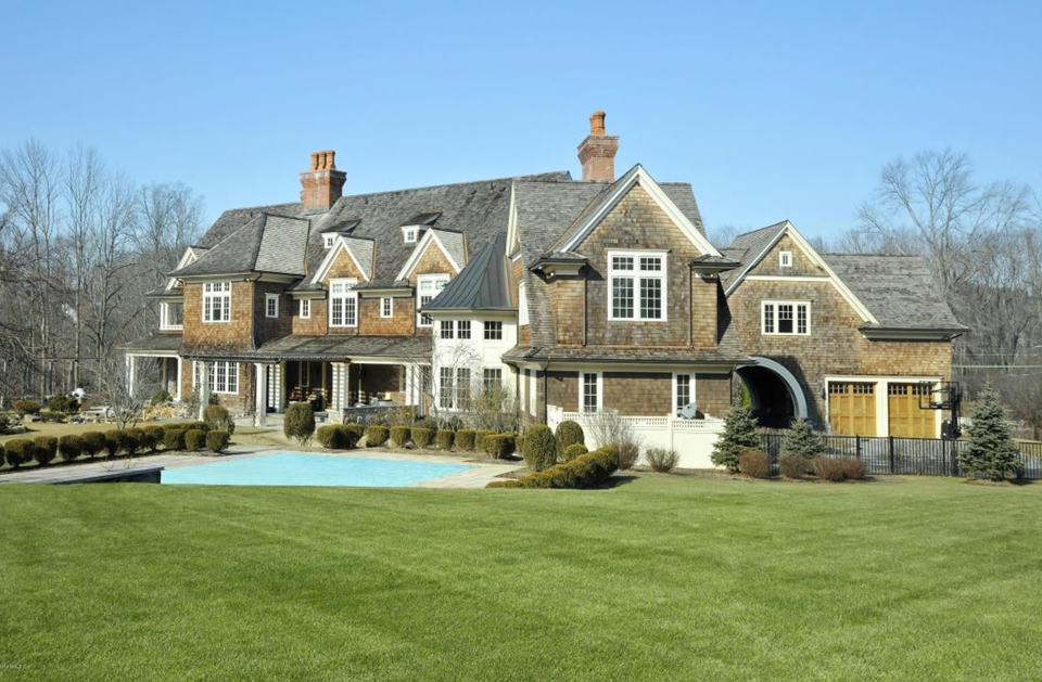 $6.9 Million 13,000 Square Foot Stone & Shingle Mansion In Greenwich, CT
