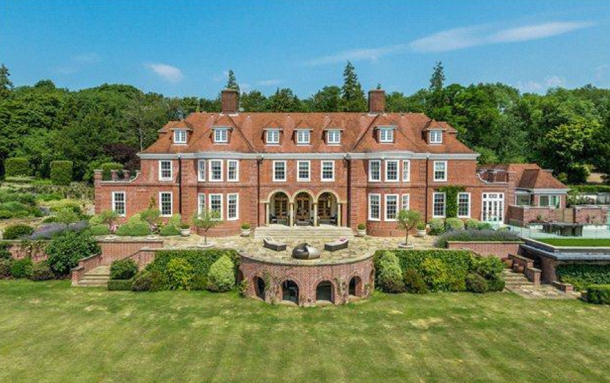 15 000 square foot newly listed brick country mansion in surrey england homes of the rich