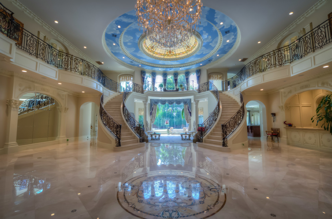 Mediterranean mansion in houston tx with amazing foyer for Small home builders houston