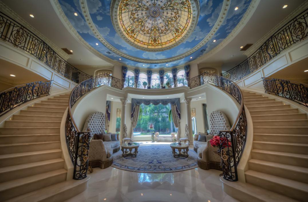 Mansion Foyer Zoning : Mediterranean mansion in houston tx with amazing foyer