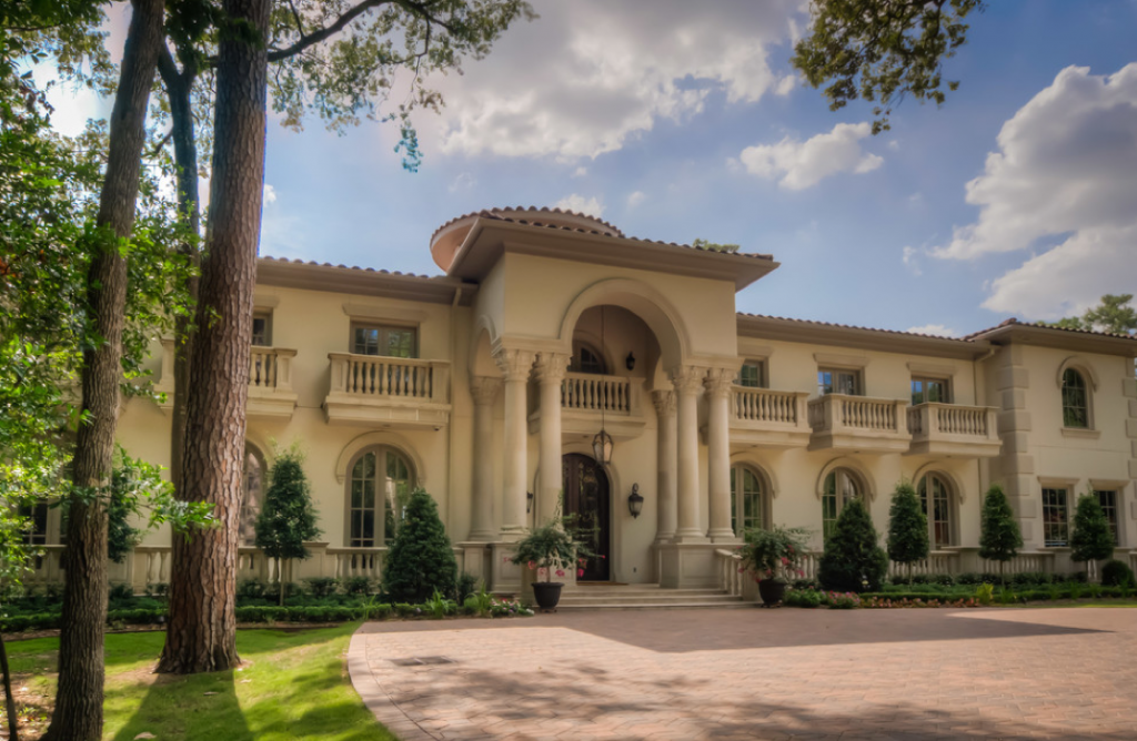 Mediterranean mansion in houston tx with amazing foyer Mediterranean style homes houston