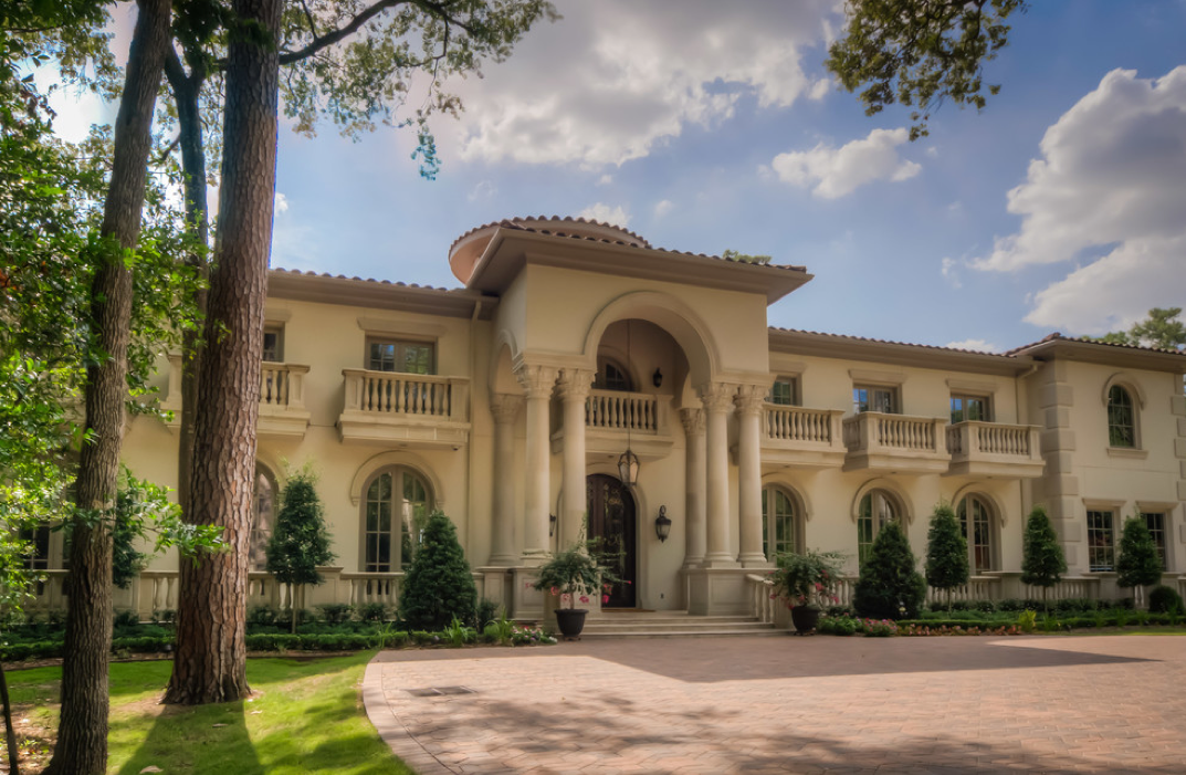 Mediterranean mansion in houston tx with amazing foyer Mediterranean homes for sale