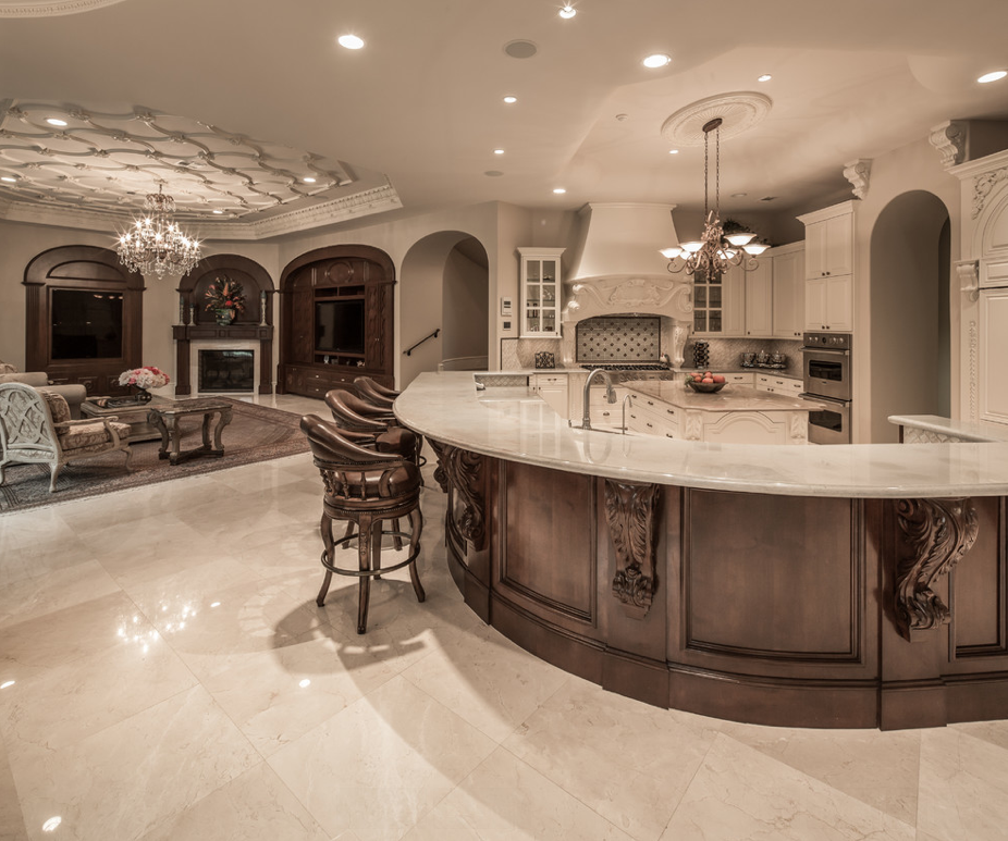 Mediterranean mansion in houston tx with amazing foyer for Kitchen design 77070