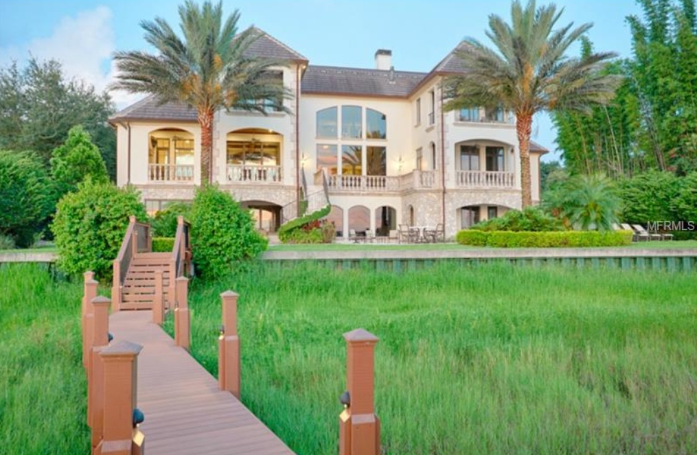 $7.6 Million 16,000 Square Foot French Inspired Lakefront Mansion In Windermere, FL