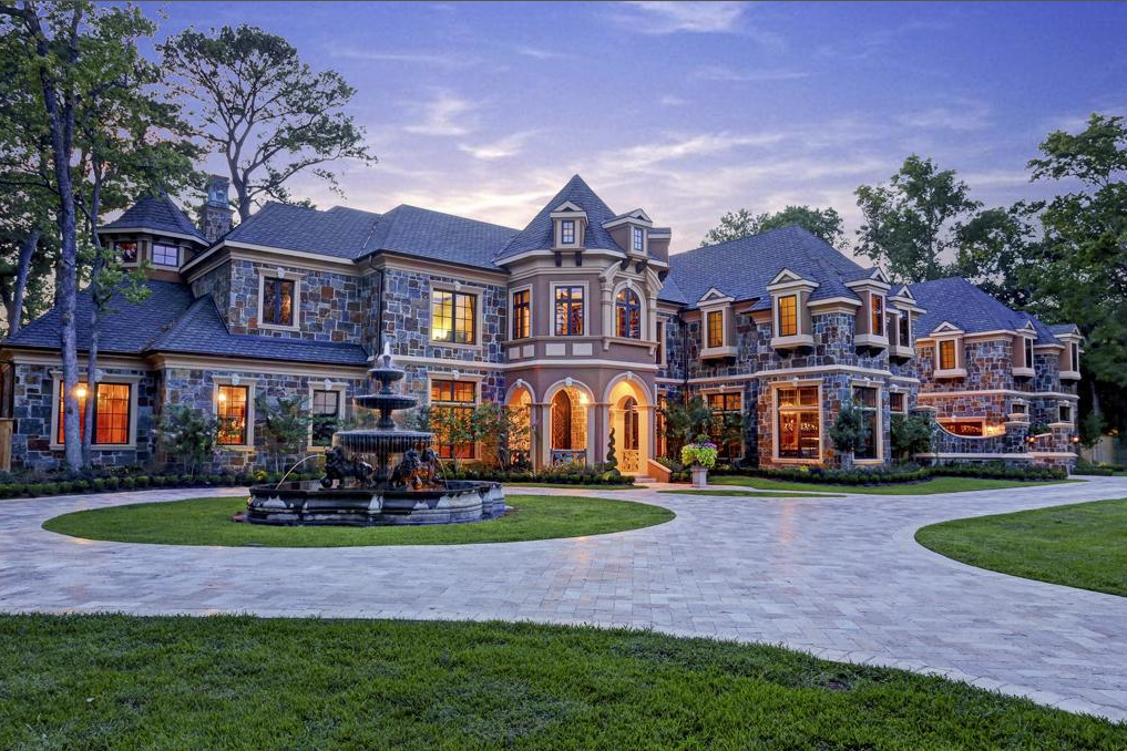 8 95 Million Newly Built Stone Stucco Mansion In Hunters Creek Village Tx on Old English Cottage Plans