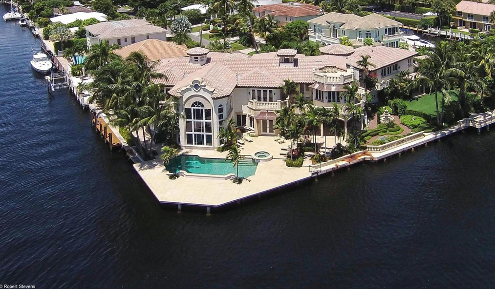 $7.25 Million 14,000 Square Foot European Inspired Waterfront Mansion In Boca Raton, FL