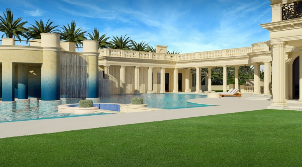 Le palais royal a 139 million 60 000 square foot mega for Average square footage of a swimming pool