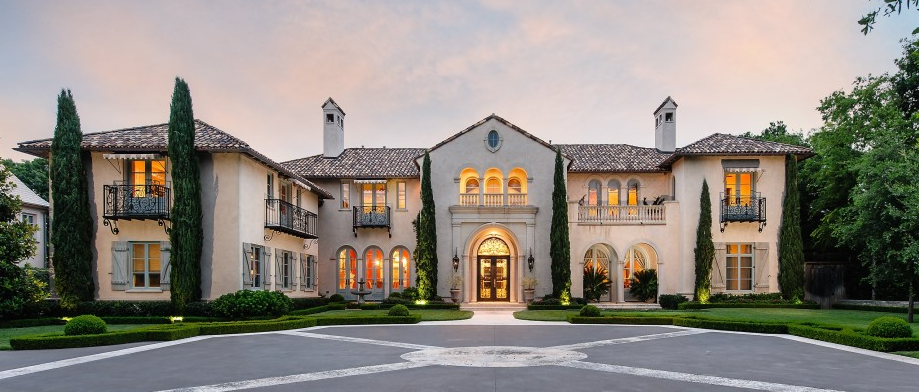 7 9 million newly listed 12 000 square foot mediterranean for Mansions in dallas tx