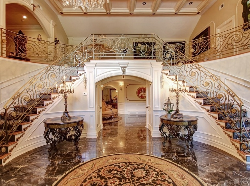 Foyer Stairs For Sale : Teresa giudice s new jersey mansion officially listed at