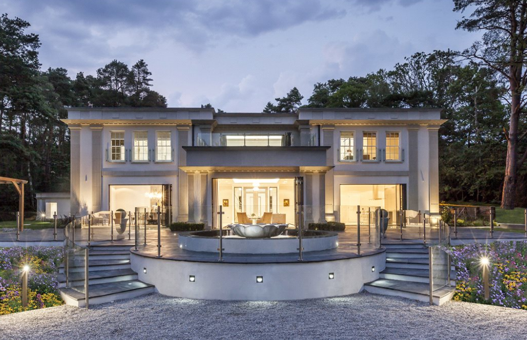 18 million newly built 16 000 square foot mansion in surrey england homes of the rich