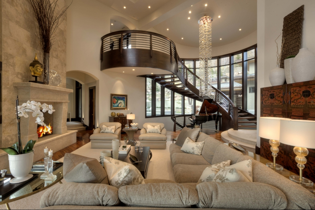 Mansion Living Room >> Villa Villagio – A $9.95 Million 10,000 Square Foot Contemporary Mansion in Salt Lake City, UT