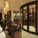 Wet bar w/ Wine Cellar