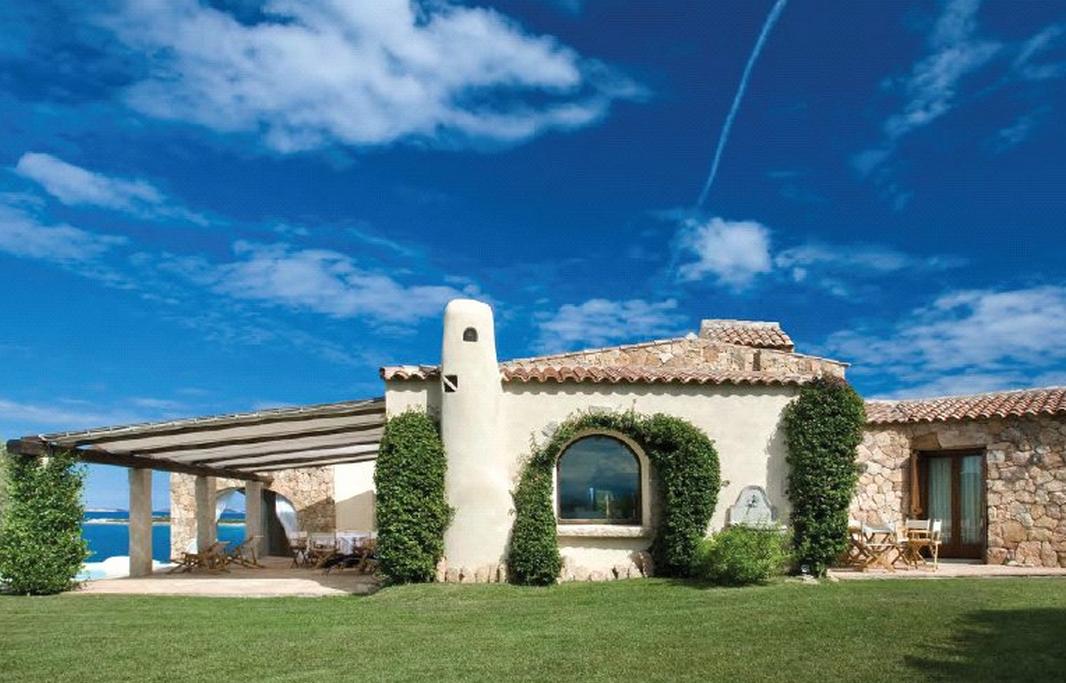 Square foot waterfront villa in sardinia italy