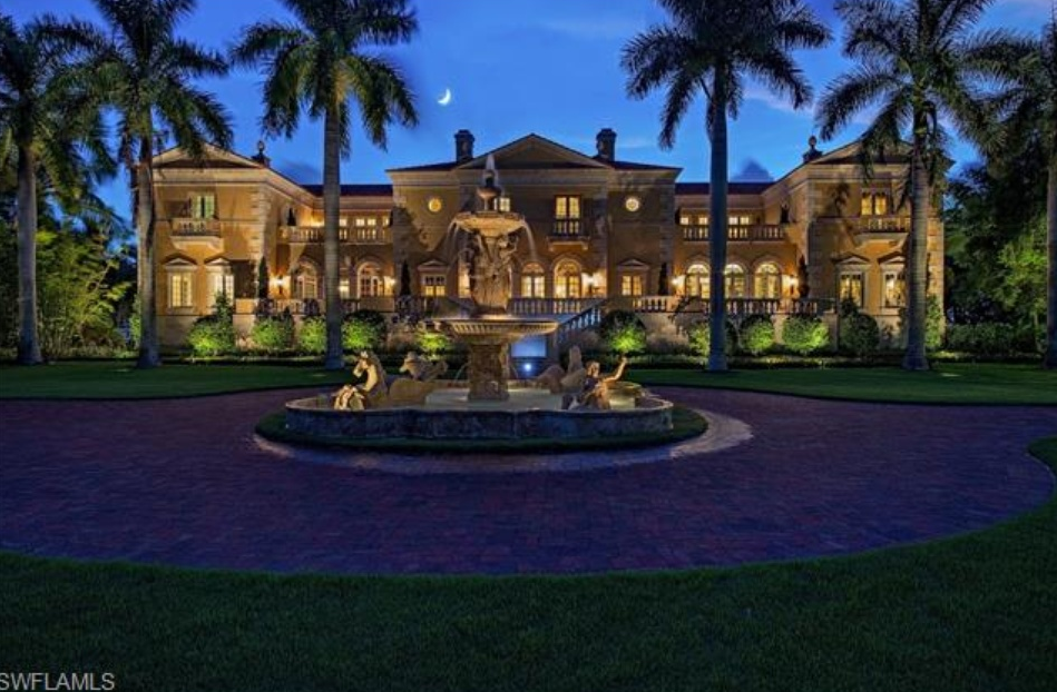 68 million beachfront mansion in naples fl homes of for Mega mansions in florida