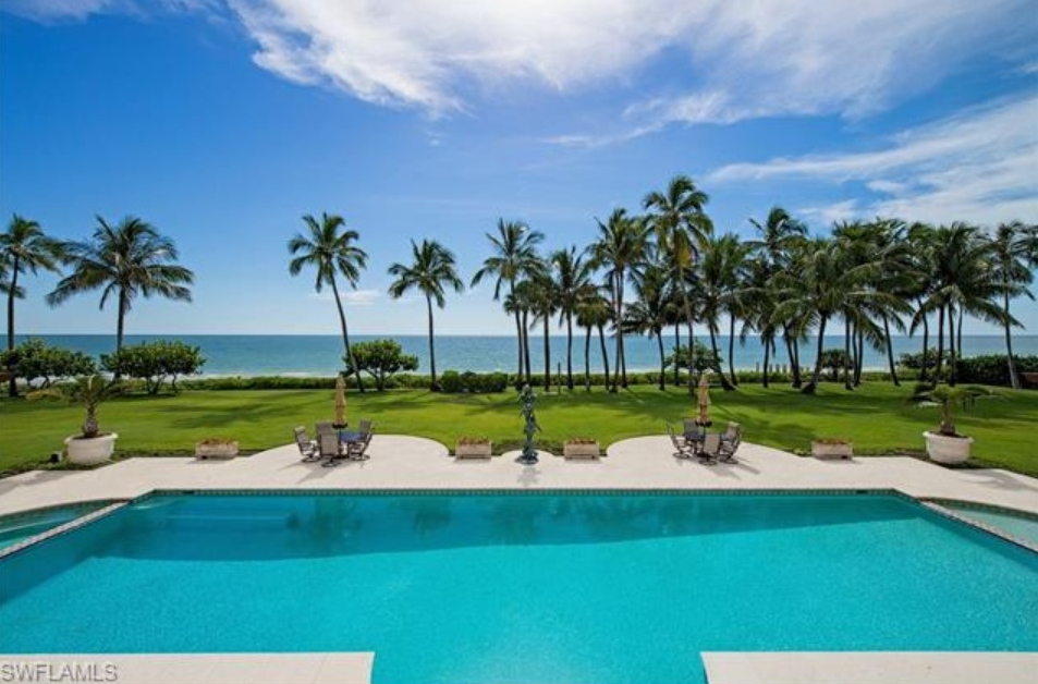 68 Million Beachfront Mansion In Naples Fl Homes Of