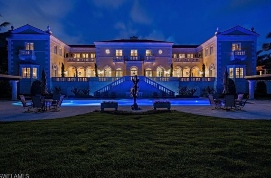 $68 Million Beachfront Mansion In Naples FL Homes of the Rich - Crazy House Floor Plans
