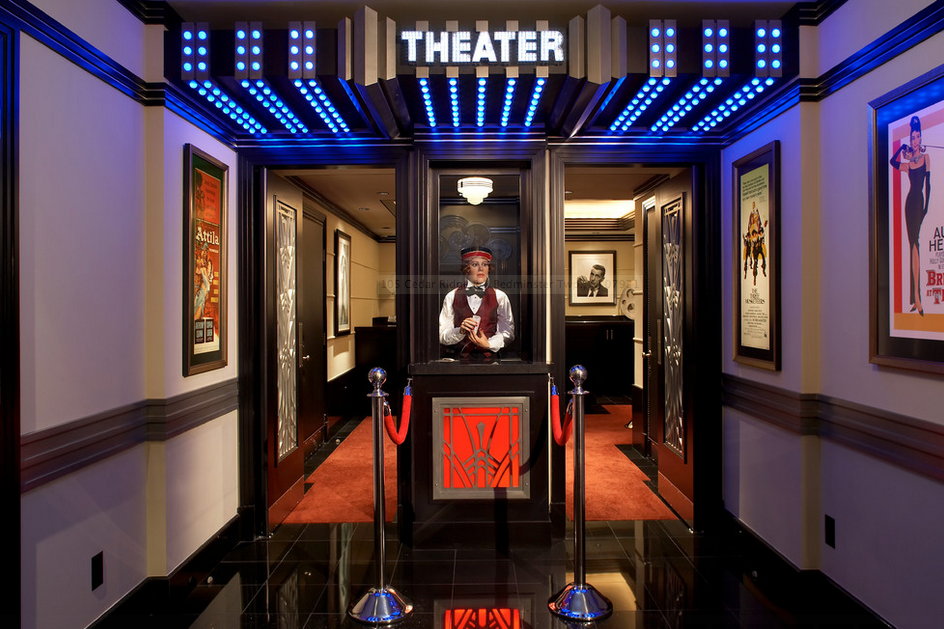 A Look At Some Lavish Home Theater Entrances | Homes Of The Rich