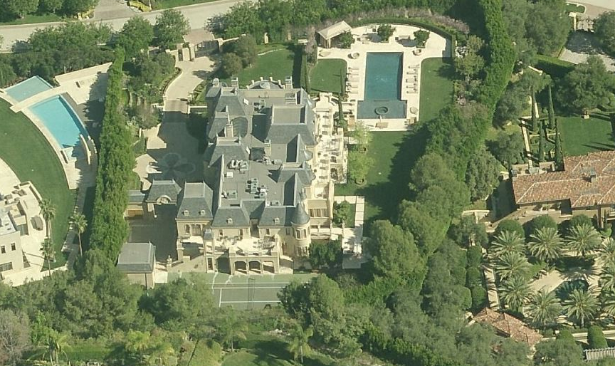 $50 Million 27,000 Square Foot French Mega Mansion In Beverly Hills, CA