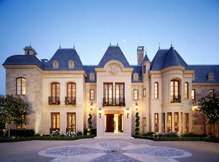 50 million 27 000 square foot french mega mansion in for Luxury french chateau