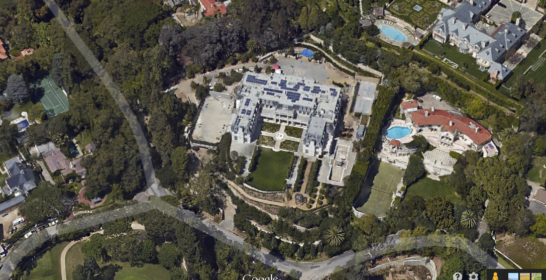 The 60,000 Square Foot Chateau Des Fleurs Now Available In Google Maps' Bird's Eye View