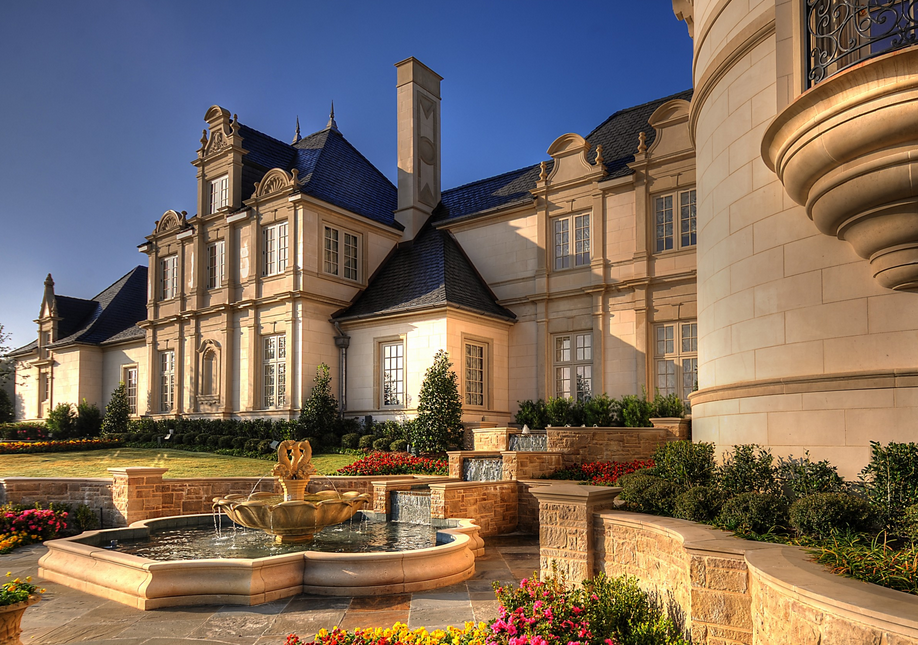 Opulent french inspired castle like mega mansion in fort for Grand home designs fort worth