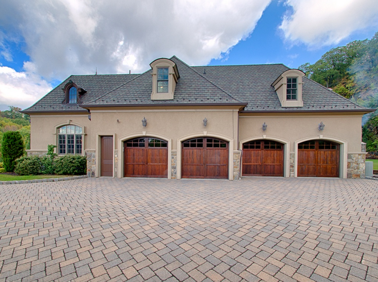 Attractive Side Exterior W/ 4 Car Garage