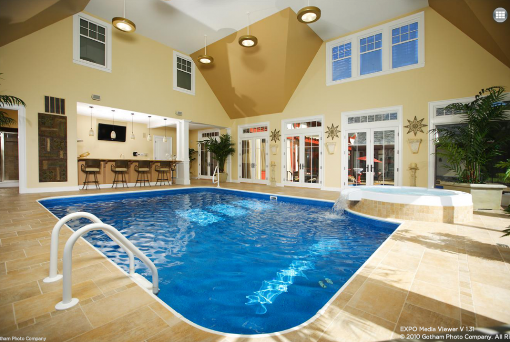 Huge houses with indoor pools