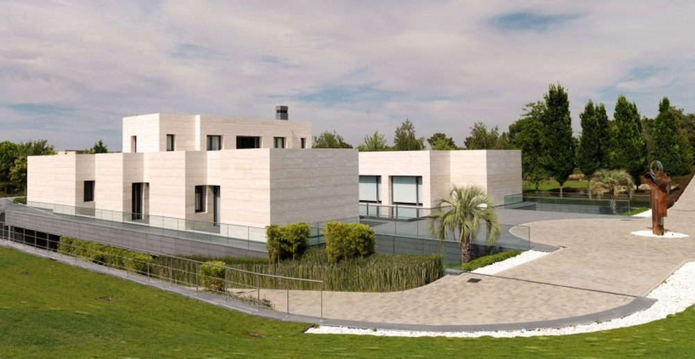 20000 square foot newly built contemporary mansion in madrid spain