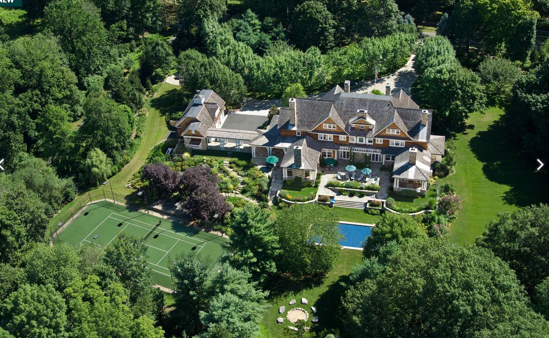 $17.95 Million Newly Listed Stone & Shingle Mansion In Greenwich, CT