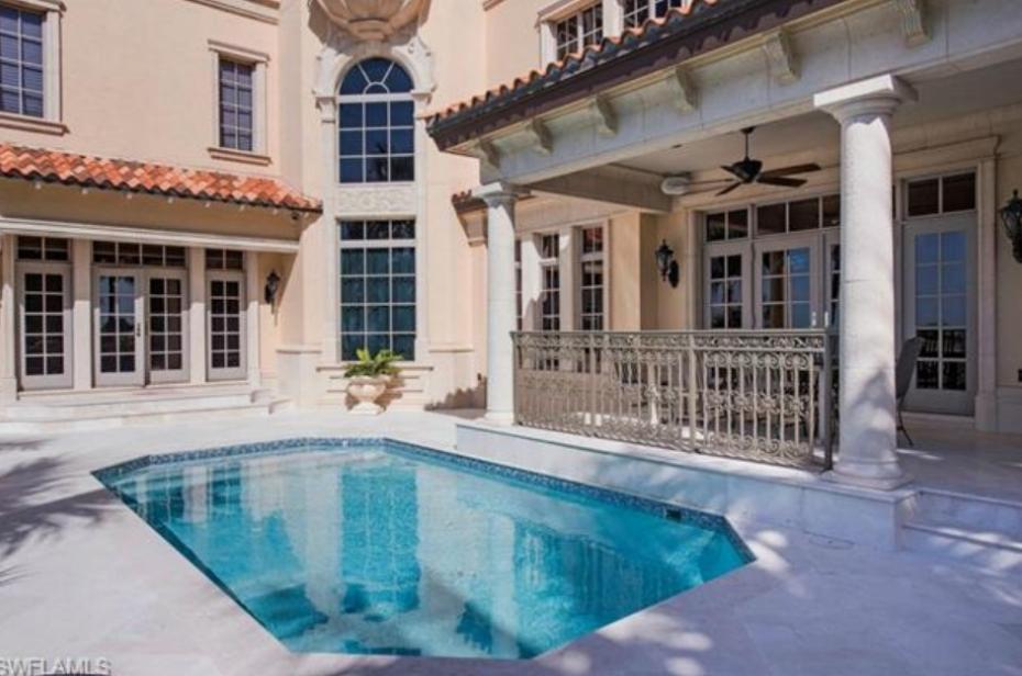 $19.9 Million Mediterranean Style Beachfront Mansion In Naples, FL