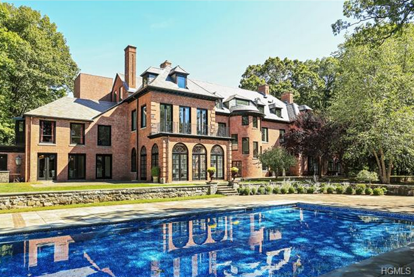 $23 Million 20,000 Square Foot Renovated Brick Georgian Mansion In Mount Kisco, NY