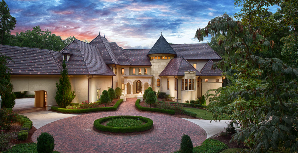 $35 Million 10000 Square Foot French Inspired Mansion In Charlotte NC Homes of the Rich - 2 Story Garage Apartment Plans