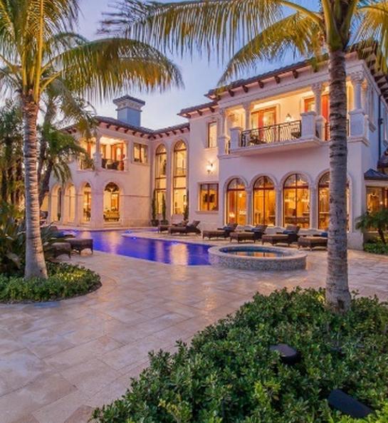 $15.5 Million Newly Built Waterfront Mediterranean Mansion