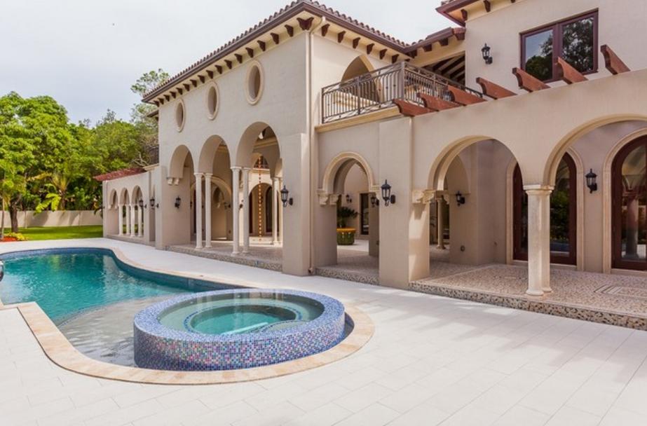 $5.9 Million Newly Built Mediterranean Mansion In Miami, FL