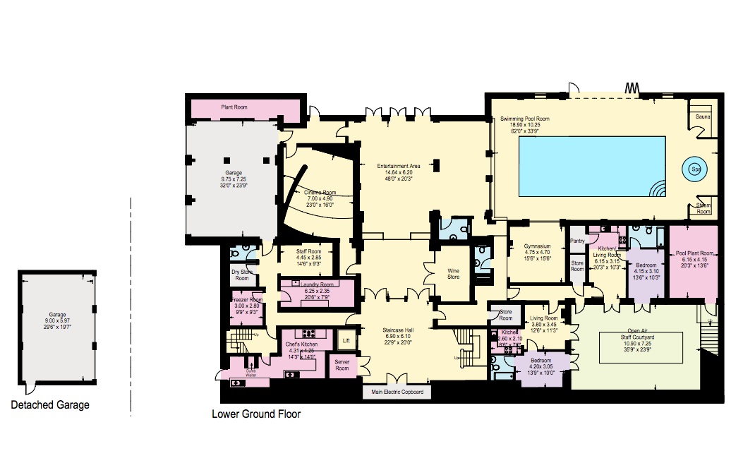 Woodrow a 24 5 million newly built 22 000 square foot for Mega homes floor plans