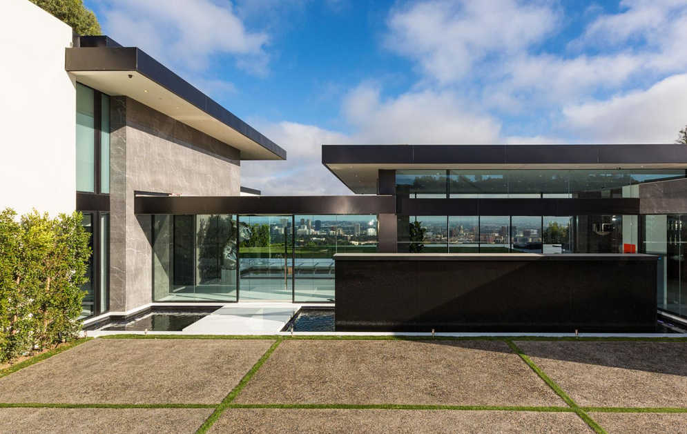 $55 Million Newly Built 14,000 Square Foot Modern Mansion In Bel Air, CA