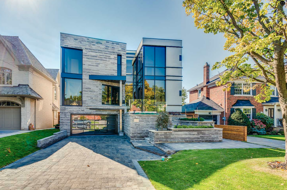 4 million newly built contemporary home in toronto for Modern house canada