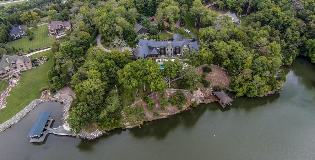 $5.6 Million 10,000 Square Foot Lakefront Mansion In Knoxville, TN