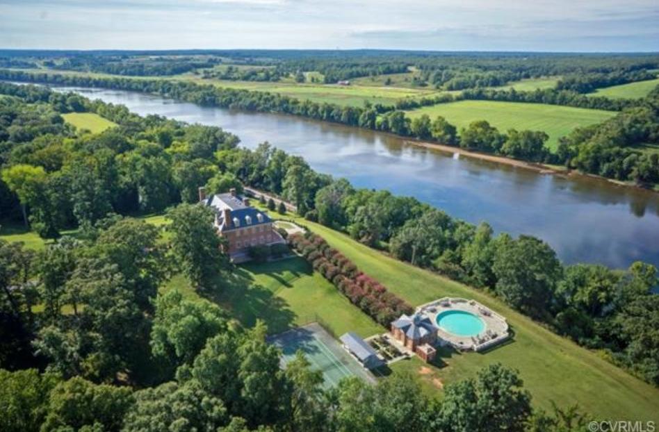 River Run Manor – A 61 Acre Riverfront Estate In Goochland, VA