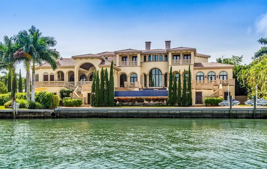 Marco Island Mediterranean Mansion With 20 Car Garage Re