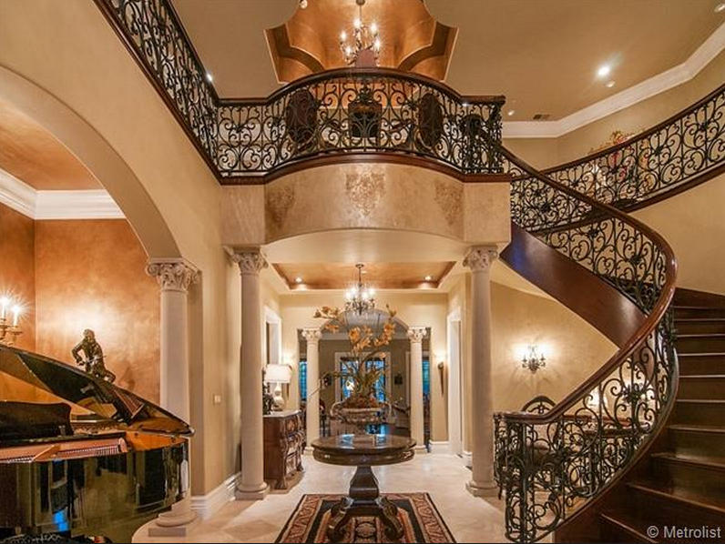Mansion Foyer Zoning : Million square foot italian inspired mansion