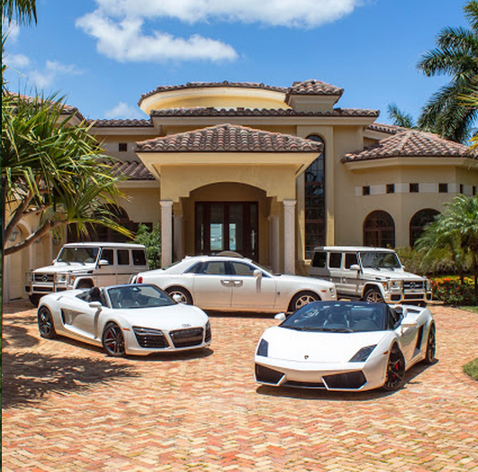 mansion expensive waterfront cars mansions front parked dollar million beach exotic miami club backgrounds homes rich some golden really mph
