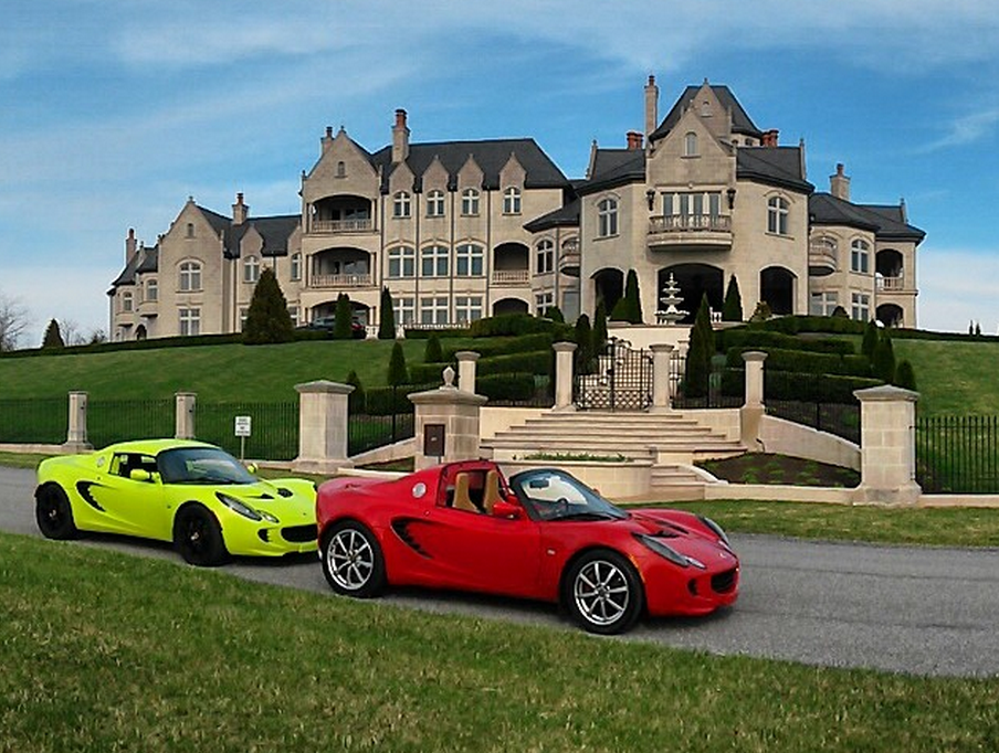 A Look At Some Mansions With Expensive Cars Parked In