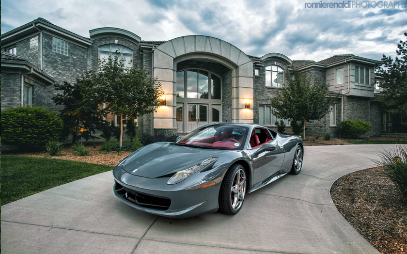 A Look At Some Mansions With Expensive Cars Parked In Front Homes Of The Rich