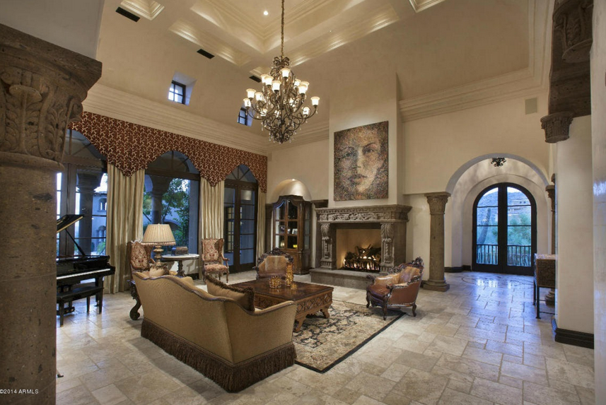 Million Spanish Style Mansion In Scottsdale Az Homes Of The Rich